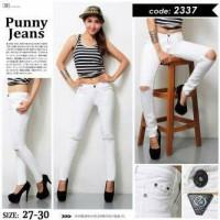 harga Ripped Jeans White Pn2337 Tokopedia.com