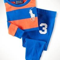 Polo Stripe Biru - Piyama/training merk Polo