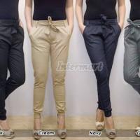 Jogger Pants Cotton Stretch, Joger Pita Joger Katun Wanita (S-M-L)