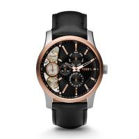 Jam Tangan FOSSIL Original Watch ME1099 Mechanical Twist Black Leather