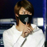 Masker Mulut Hangul Heechul Super Junior SUJU Kpop Motor Mouth Mask