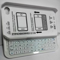 Keyboard Sliding Bluetooth iPhone 4 /4s WHITE