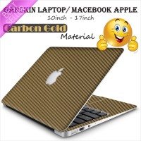 Garskin/Skin Carbon Texture Gold Original Laptop/Macebook 10-17 inch