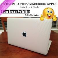 Garskin/Skin Carbon Texture White Original Laptop/Macebook 10-17 inch