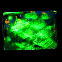 TOP GRADE GEM ! RAINBOW FLASHY 3D HARLEQUIN FACET WELO BLACK OPAL