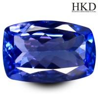 Jual 1.47 ct HKD Certified Pretty Cushion Shape Violet Tanzanite gemstone Murah