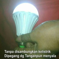 Lampu Led Emergency Mitsuyama 10 wat / Lampu Di pegang nyala