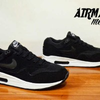 Sepatu Kets Nike Airmax One Black White Cowok Untuk Sekolah Jogging