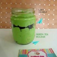 oreo green tea mousse/ oreo / coklat cookies