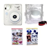 Paket Instax Polaroid Camera 50S Mickey + Mica Case + Refill