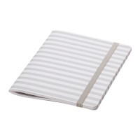 IKEA FULLFOLJA Buku Tulis 15x20 Cm, Putih Garis Abu-abu