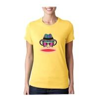 t shirt pria/wanita/kaos pria wanita (mr party yellow)t shirt fashion
