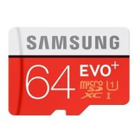 Samsung MicroSDXC EVO Plus Class 10 UHS-1 (80MB/s) 64GB SD Adapter