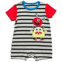 F606 ROMPER HAPPY MONSTER BORDIR PENDEK