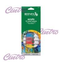 REEVES ACRYLIC SET 12 COLOUR / CAT AKRILIK 12 WARNA
