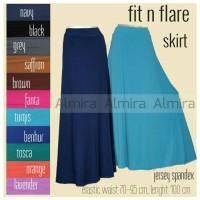Jual Bawahan / Rok / Panjang / Muslimah / Fit n flare Skirt + furing Murah