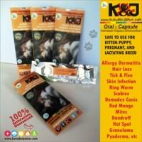 Obat jamur, kulit, bulu pada anjing dan kucing KAPSUL KNJ ( 16 pcs )