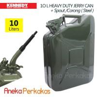harga Jerigen Besi Kennedy 10l Heavy Duty Steel Jerry Can + Spout / Corong Tokopedia.com