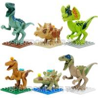 Blocks Murah(lego) Jurassic World Dinosaurus isi 6 Mainan Edukasi Anak
