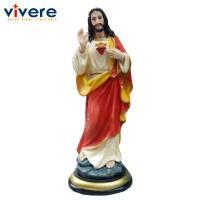 Patung Yesus Memberkati Orange 15 cm