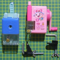 Sharpener Mechanical Pencil Rautan Mekanik Meja Pensil Putar Serutan