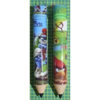 tempat pensil ritsleting retsleting resleting seleretan zipper kartun