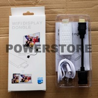 HDMI Wireless Wifi Display Putih Dongle Adapter Streaming TV LCD LED