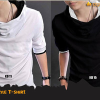 Korean Style Shirt Black (Kaos Korea - KD 15)