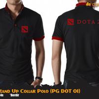 Dota 2 Stand Up Collar Polo (Kaos Polo Dota2 - PG DOT 01)