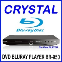 Blu Ray Player Crystal BR-950 (DVD, Multimedia, BluRay)