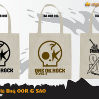 Canvas Tote Bag One Ok Rock Sword Art Online