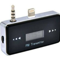 FM Transmitter 3.5mm garis 3 Plug Handsfree for iPhone 5/5s/5c HQ