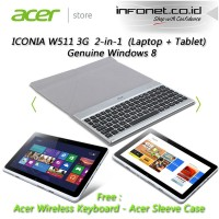 harga ACER ICONIA W511 3G DATA (Free Acer Crunch Keyboard) Tokopedia.com