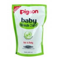 harga PIGEON Baby Wash 2in1 Chamomile 600ml Refill | Sabun Cair Bayi Tokopedia.com