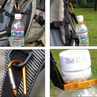 Aluminum Carabiner Clip Bottle Holder Camping