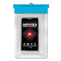 Zoe Waterproof Bag Case For Motorola DROID RAZR MAXX - Biru