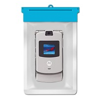 Zoe Waterproof Bag Case For Motorola RAZR V3 - Biru