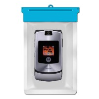 Zoe Waterproof Bag Case For Motorola RAZR V3i - Biru