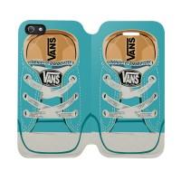 Blue Vans Shoes Iphone 5-5S Custom Flip Cover Case