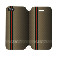 Gucci Strpes Iphone 5-5S Custom Flip Cover Case
