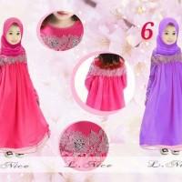 Baju Gamis Purple L-Nice Kids