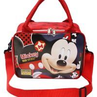 Tas Travel Mini Jinjing ada Tali Selempang Karakter Mickey Mouse