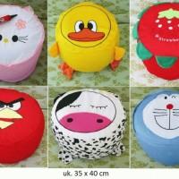Sofa Kursi Tiup Pompa Balon Angin Anak Hello Kitty Doraemon Souvenir