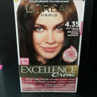 Loreal Excellence Creme 4.35 dark Caramel Brown