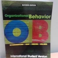 harga Organizational Behavior, 11th Ed. Tokopedia.com