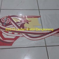 Stiker/Stripping/Lis body Scoopy FI Merah