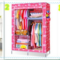 harga Cloth Rack With Dusk Cover Rak Baju Multi Fungsi Lemari Kain Amazing Tokopedia.com