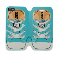 Blue Vans Shoes Iphone 5C Custom Flip Cover Case
