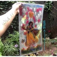 MURAH party packing BESAR putri salju plastik ultah 25 x 50cm + tali