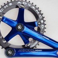 Crankset Miche Track 46T 165mm BLUE